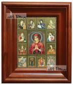 Собор Богородиц с Умягчением злых сердец, икона печатная в киоте