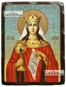 Варвара великомученица состаренная икона 18х24 см