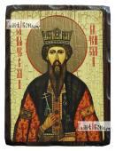 Вячеслав Чешский, состаренная икона 18х24 см