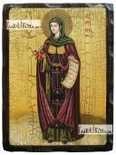 Ирина Каппадокийская, состаренная икона 18х24 см