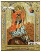 Архангел Михаил старинный стиль печатная на доске икона