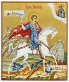 Мученик Трифон икона рукописная артикул 6023