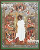 Ангел Хранитель с клеймами, икона литография