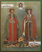 Борис и Глеб страстотерпцы, икона литография
