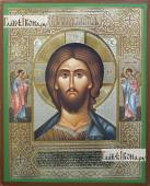 Господь Вседержитель с архангелами, икона литография