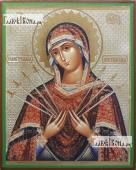 Семистрельная Божия Матерь, икона литография