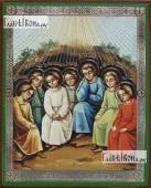 Семь Ефесских отроков, икона литография