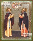 Сергий и Никон Радонежские, икона литография