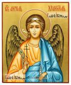 Икона Ангела Хранителя с золочением фона артикул 705