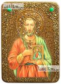Евгений Севастийский икона на дубе 21х29 см