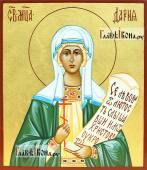 Писаная темперой икона святой Дарии Римской размер 9х10 см
