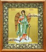 Ангел Хранитель ростовой в киоте с басмой и стразами