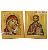 Недорогая венчальная пара рукописных икон
