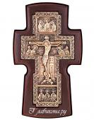 Крест православный гальванический широкий посеребренный