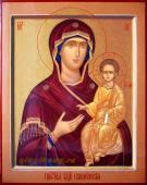 Икона рукописная Смоленской Богородицы артикул 233