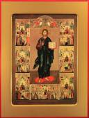 Икона Господа с клеймами