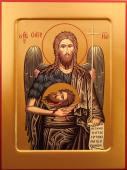 Иоанн Предтеча Креститель икона на дереве печатная