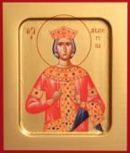 Екатерина великомученица икона на дереве печатная