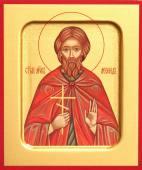 Леонид Коринфский мученик печатная на дереве икона