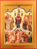 Покров Пресвятой Богородицы, печатная икона
