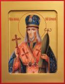 Иоасаф Белгородский печатная на дереве икона