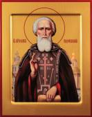 Сергий Радонежский, печатная икона