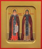 Амфилохий и Иов Почаевские икона печатная  на доске