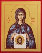 Вероника праведная икона печатная на дереве