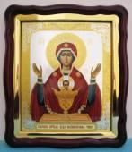 Неупиваемая Чаша Божия Матерь, большая аналойная икона, 43 х 50 см