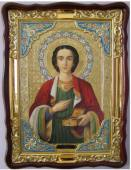Пантелеймон мученик (поясной), икона храмовая