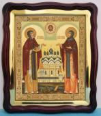 Петр и Феврония большая аналойная икона 43 х 50 см