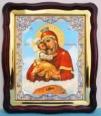 Почаевская Божия Матерь аналойная икона 43 х 50 см