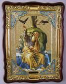 Пророк Илья (с мечом, в схиме), икона храмовая