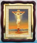 Распятие Господа Иисуса Христа аналойная икона 43 х 50 см