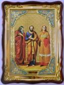 Самон, Гурий и Авив святые мученики, икона храмовая