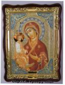 Троеручица Божия Матерь (в ризе), икона храмовая