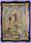 Троеручица Божия Матерь, икона храмовая