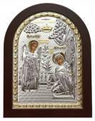 Благовещение икона в посеребренном окладе