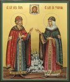 Икона Петра и Февронии 21х25