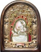 Касперовская Божия матерь красные одежды дивеевская икона из бисера