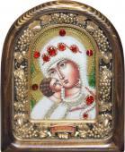 Владимирская икона БМ с камнями из бисера