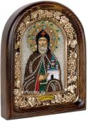 Даниил Московский, икона из бисера