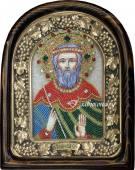 Владислав Сербский, икона из бисера