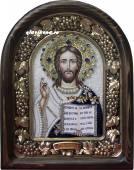 Господь икона бисером с бархатом