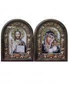 Венчальная пара икон в бархате