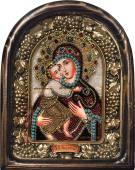 Феодоровская икона из бисера