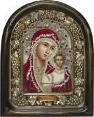 икона казанская в красном барате