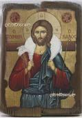 Добрый Пастырь - икона под старину