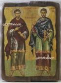 Косьма и Демьян - икона под старину