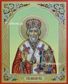 Рукописная икона Николая Чудотворца артикул 6034